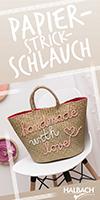 Flyer Papier-Strickschlauch