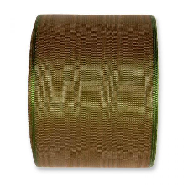 Moiréband - farbig two-tone green/brown Hauptbild Detail