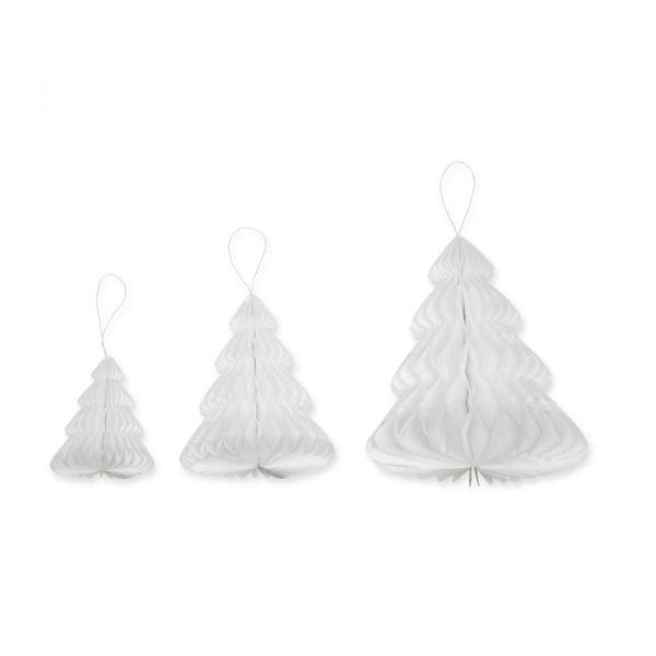 Waben-Bäume aus Seidenpapier white Hauptbild Detail