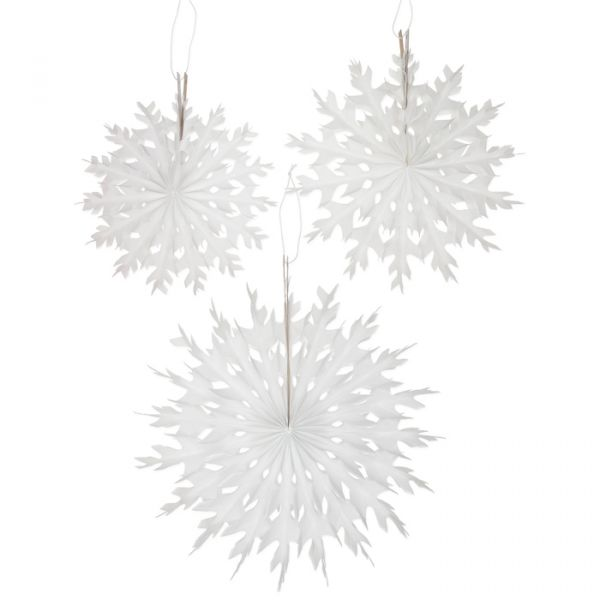 Eiskristalle aus Seidenpapier white Hauptbild Detail