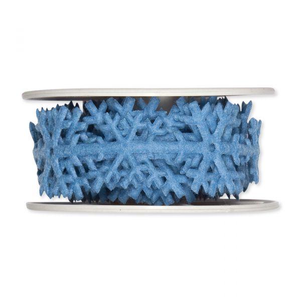 "Filzband ""Eiskristalle"" light blue Hauptbild Detail"
