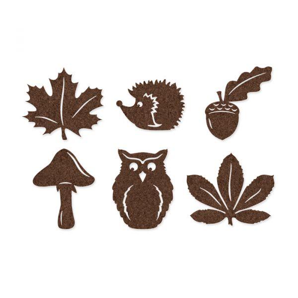 """Filz-Sortiment """"Wald"""" 6 Formen im Set dark brown Hauptbild Detail"""
