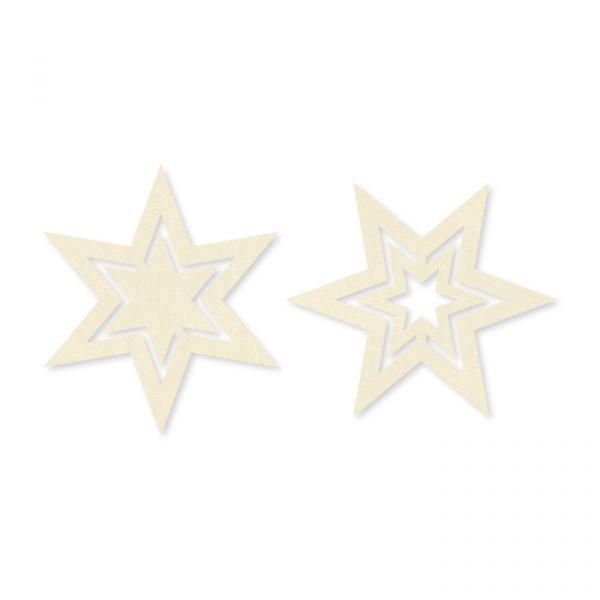 """Filz-Sortiment """"Sterne"""" cream Hauptbild Detail"""