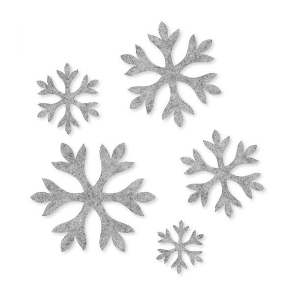 "Filz-Sortiment ""Eiskristalle"" light grey Hauptbild Detail"