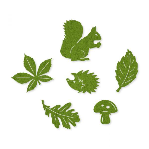 "Filz-Sortiment ""Herbst"" green Hauptbild Detail"