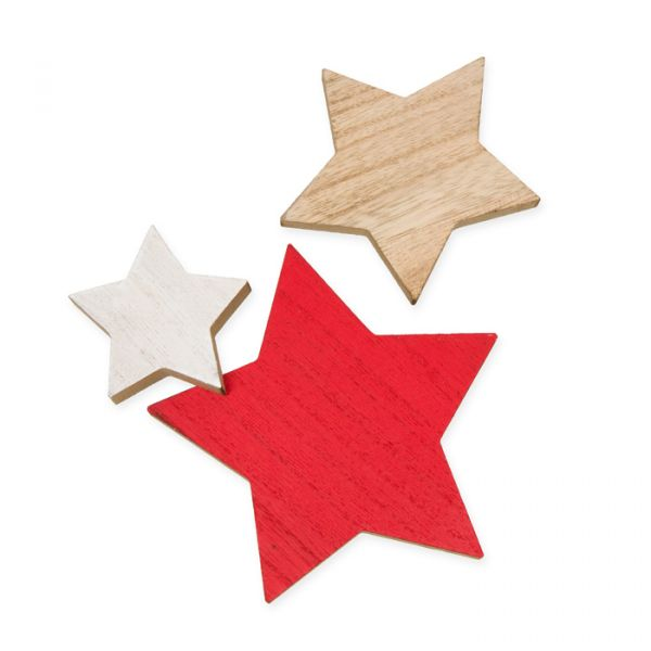 Holz-Sterne red/natural/white Hauptbild Listing
