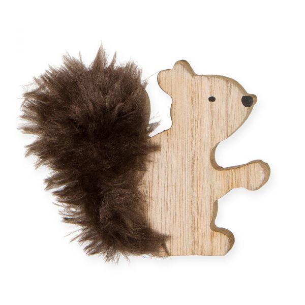 """Holz-Deko """"Eichhörnchen"""" natural Hauptbild Detail"""