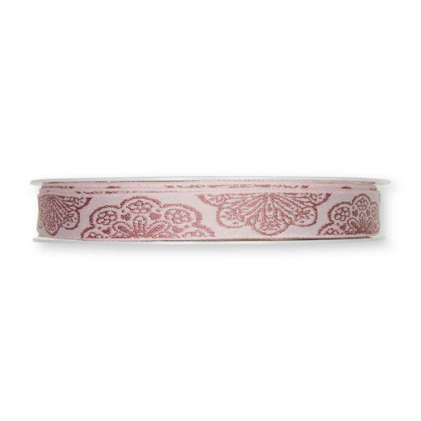 "Jacquardband ""Spitze"" pale rose/dusky pink Hauptbild Detail"