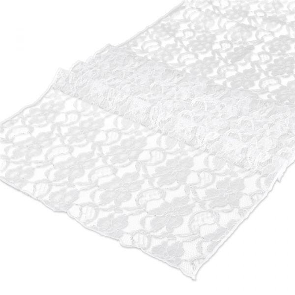 Dekostoff/Tischläufer Spitze white Hauptbild Listing