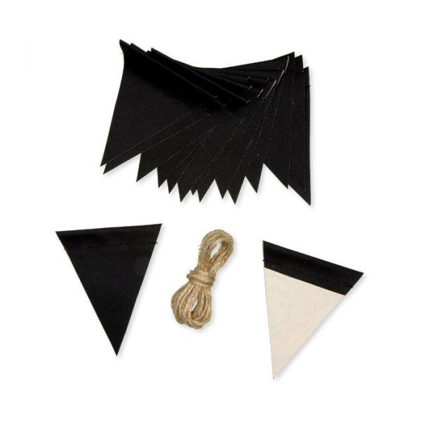 DIY-Set Wimpelgirlande black Hauptbild Detail