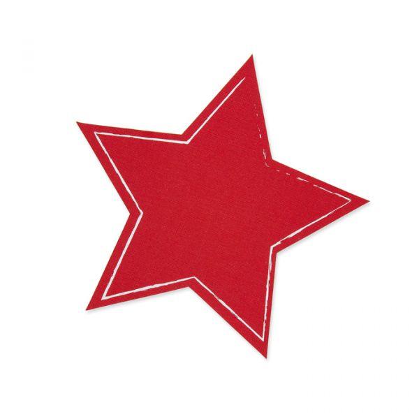 """Tafelstoff Sticker """"Stern"""" red Hauptbild Detail"""