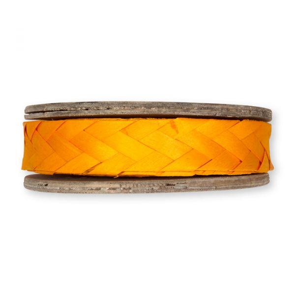 Holz-Flechtband auf Holzrolle orange Hauptbild Detail