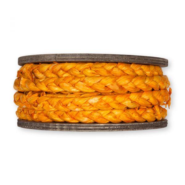 Maisstroh-Flechtband auf Holzrolle orange Hauptbild Detail
