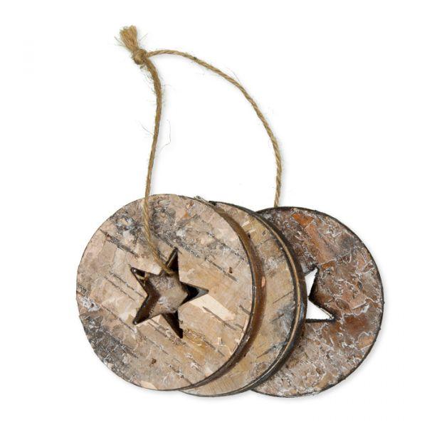 Deko-Holzscheiben natural - star Hauptbild Detail