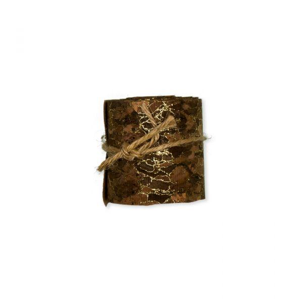 Kork-Dekoband mit Gold-Druck brown/gold Hauptbild Detail