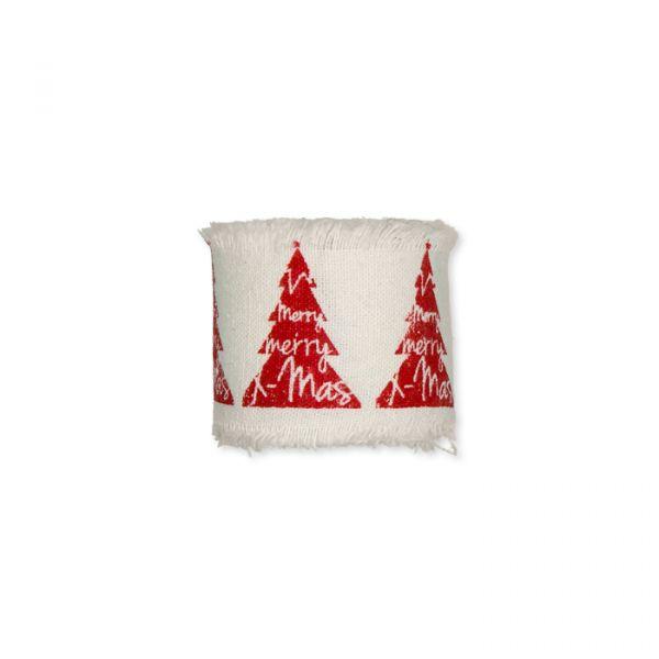 Bedrucktes Baumwollband red - tree Hauptbild Detail