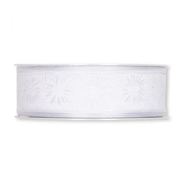 "Transparentes Druckband ""Blüten"" white/white Hauptbild Detail"