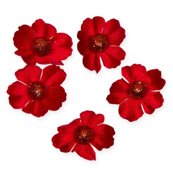 Samt-Blüten red/red glitter Hauptbild Listing