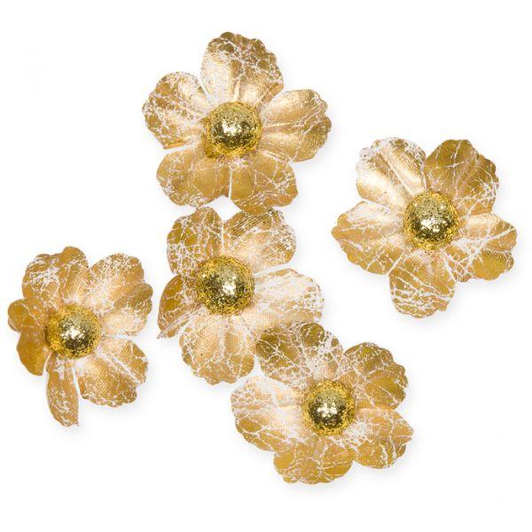 Textil-Blüten gold/gold glitter Hauptbild Listing