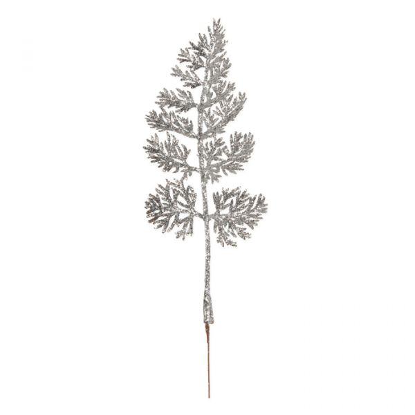 "Glitter-Blätter ""Konifere"" silver glitter Hauptbild Detail"