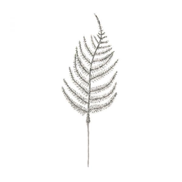 "Glitter-Blätter ""Farn"" silver glitter Hauptbild Detail"