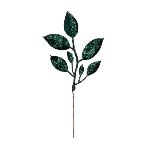 """Glitter-Blätter """"Rose"""" fir green glitter Hauptbild Detail"""