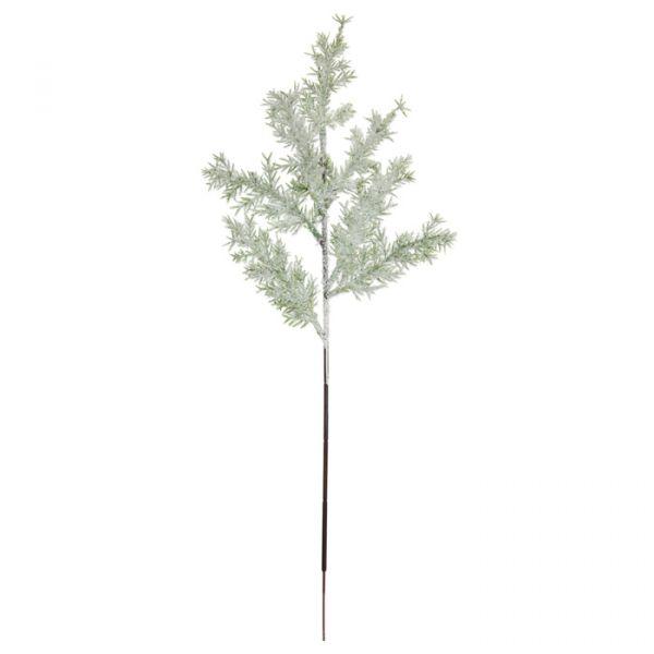 """Deko-Zweige """"Tanne mit Schnee + Glitter"""" green leaves/white glitter Hauptbild Detail"""
