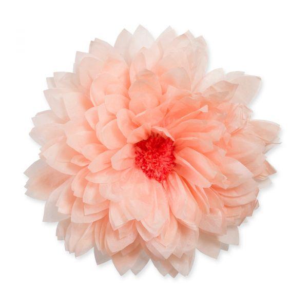 Seidenpapier-Blüte apricot Hauptbild Detail