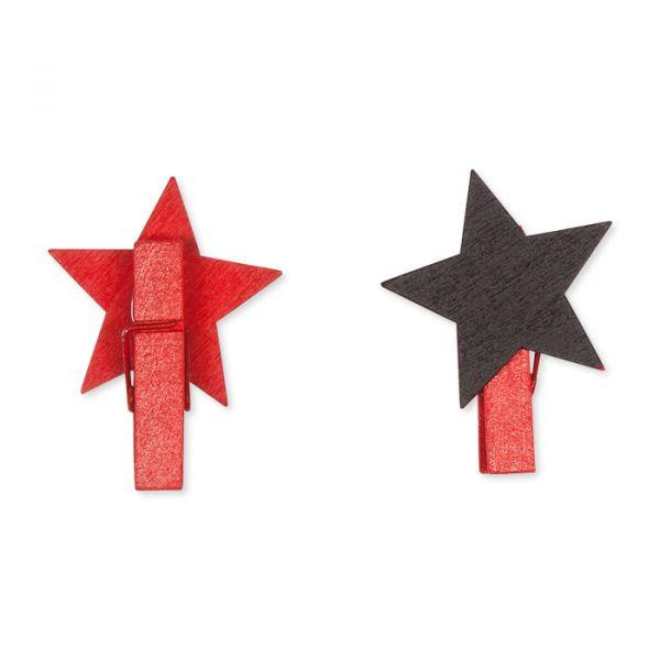"""Tafel-Clip """"Stern"""" mit Kreidestift red Hauptbild Detail"""