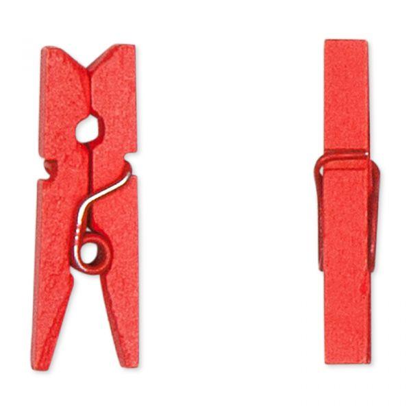 Mini-Holz-Klammern red Hauptbild Detail