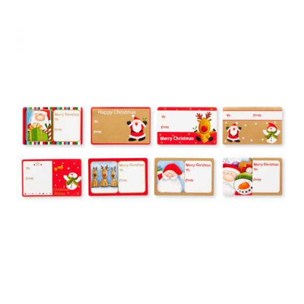 Weihnachts-Geschenk-Sticker selbstklebend 8 Motive mixed Hauptbild Detail