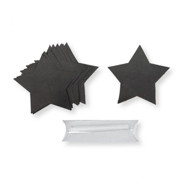 Sticker aus Tafelfolie black/star Hauptbild Detail