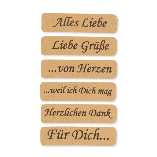 Papier-Sticker mit deutschen Texten natural Hauptbild Detail