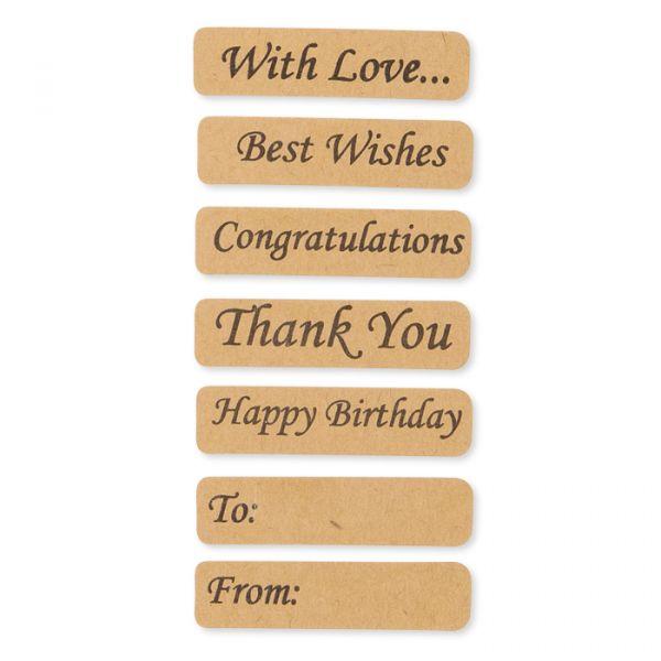Papier-Sticker mit englischen Texten natural Hauptbild Detail