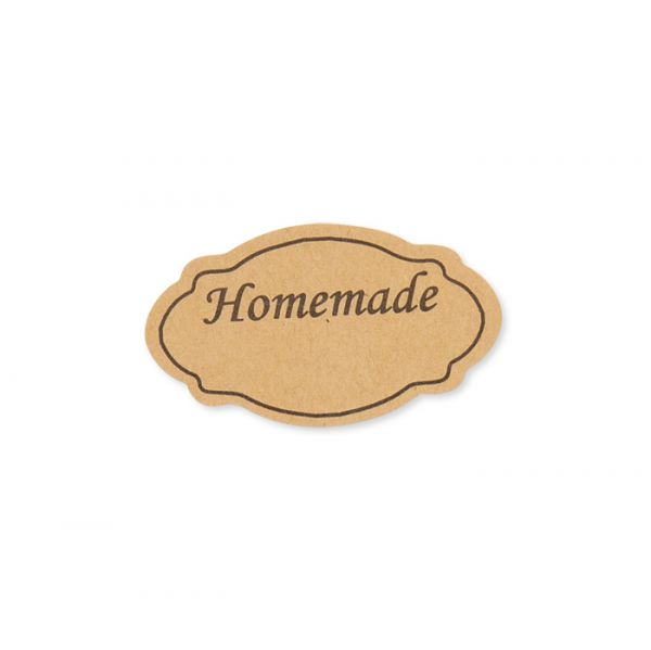 """Papier-Sticker """"Homemade"""" natural Hauptbild Detail"""