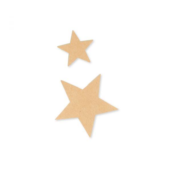 """Papier-Sticker """"Sterne"""" selbstklebend natural Hauptbild Detail"""