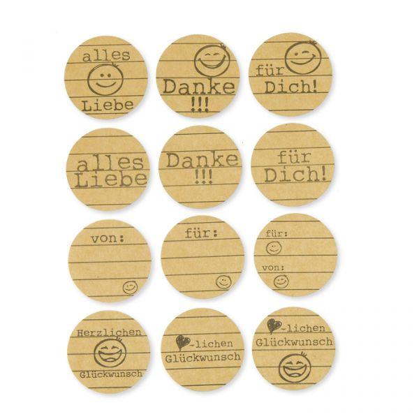 """Papier-Sticker """"Glückwünsche"""" natural Hauptbild Detail"""