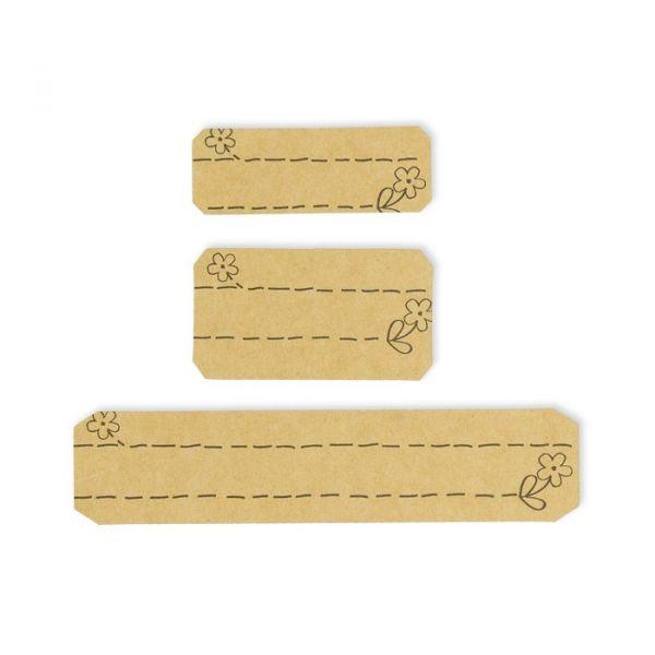"""Papier-Sticker """"Blümchen"""" natural Hauptbild Detail"""