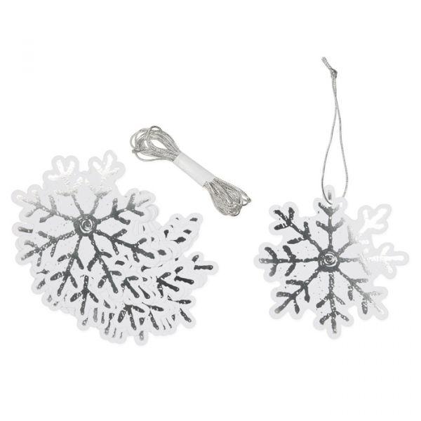 "Papier-Anhänger ""Eiskristall"" silver/white Hauptbild Detail"