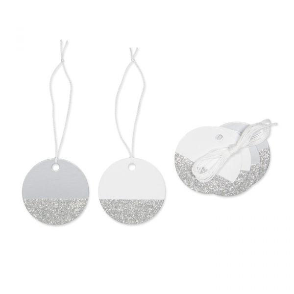 """Papier-Anhänger """"Glitter"""" silver Hauptbild Detail"""