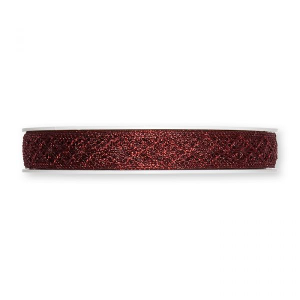 Metallic-Häkelspitze wine red Hauptbild Detail