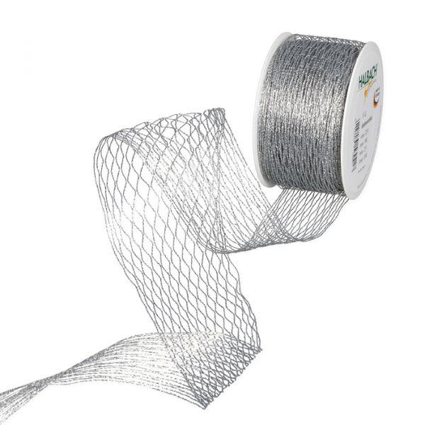 Stretch-Gitterband silver Hauptbild Listing