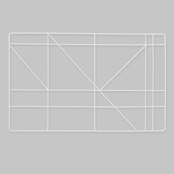 Metall-Wanddeko eckig white Hauptbild Detail