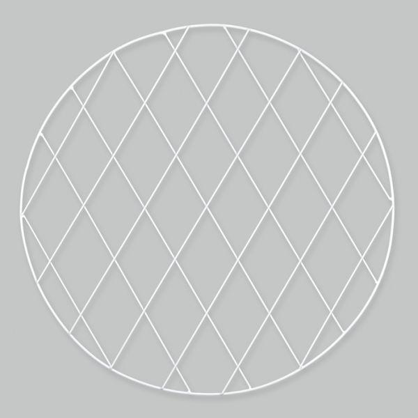 Metall-Wanddeko rund white Hauptbild Detail
