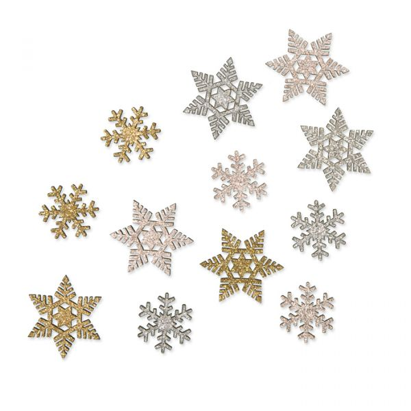 Holz-Streudeko mit Glitter rose gold/silver/gold - ice crystal Hauptbild Detail