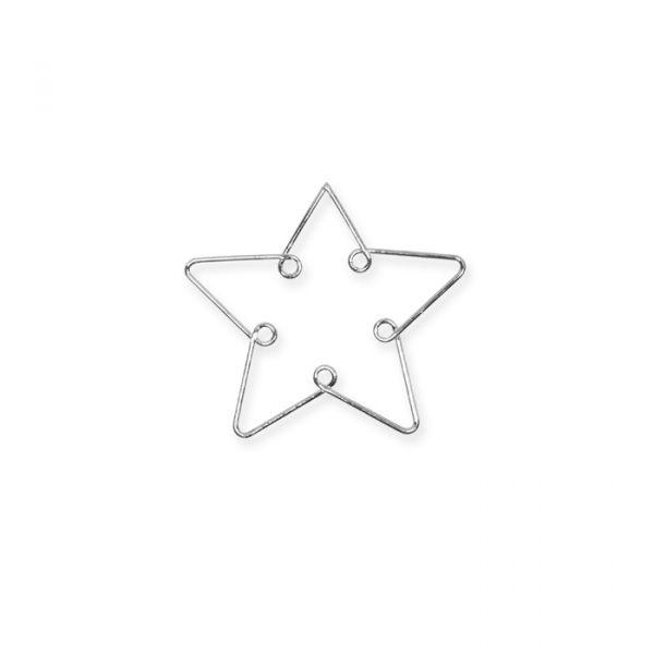 Metall-Weihnachtsmotive silver - star Hauptbild Detail