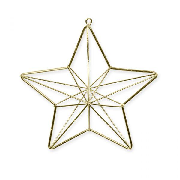 3-D Metall-Stern gold Hauptbild Detail