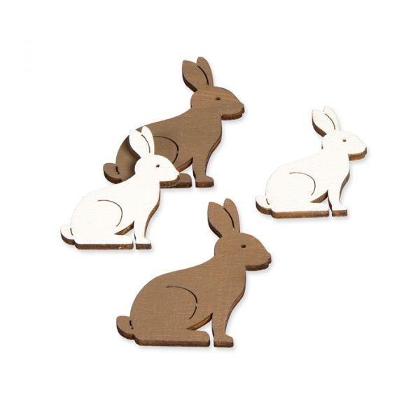 Holz-Streudeko brown/white - rabbit Hauptbild Listing
