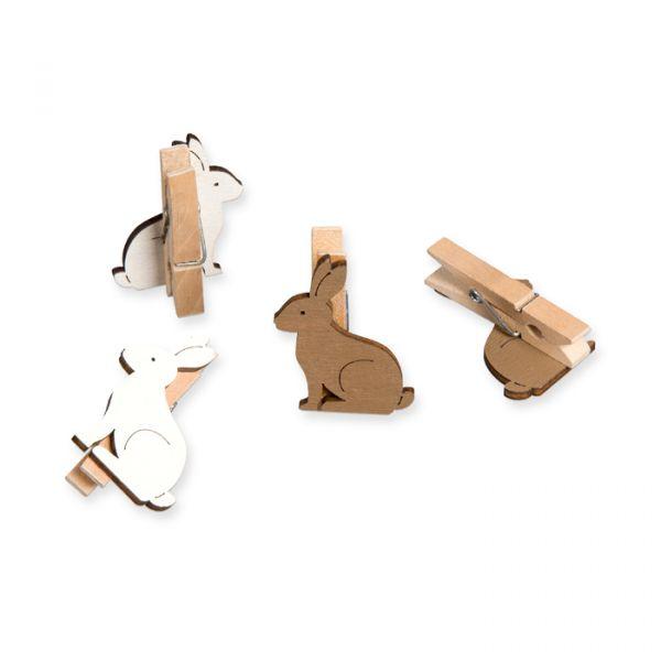 Holz-Klammern brown/white - rabbit Hauptbild Listing