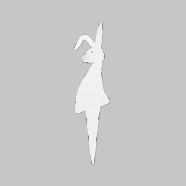 "Metall-Stecker ""Hase"" white Hauptbild Detail"